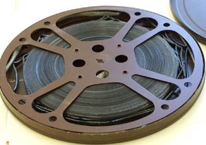 16mm film with vinegar syndrome