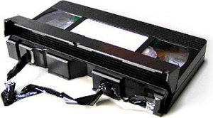 VHS video tape damaged in a VCR